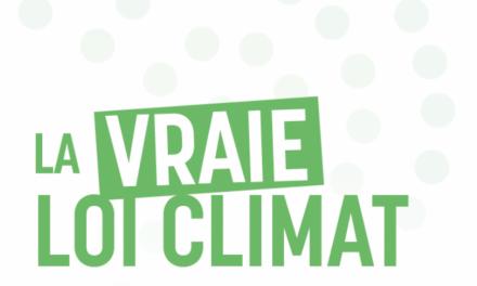 LES SÉNATrices et sénateurs ÉCOLOGISTES PRÉSENTENT LEUR VRAIE LOI CLIMAT !